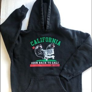Riot Society Going back to Cali hoodie Boys XL
